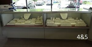 Jewelry Showcase Case Glass Used Store Fixtures Lighted And Locks