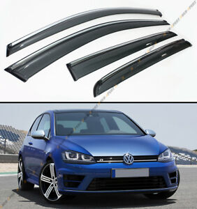 For 2015 19 Vw Mk7 Golf 7 Gti E Golf Clip On Chrome Trim Window Visor Rain Guard