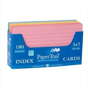 Roaring Spring Colored Index Cards 28033