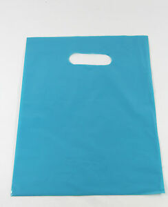 500 9 X 12 Blue Glossy Low density Plastic Merchandise Or Party Bags