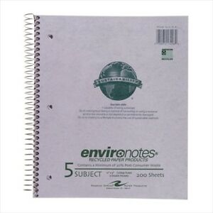 Roaring Spring Environotes 5 subject Notebooks 13296