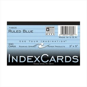 Roaring Spring Colored Index Cards 74805