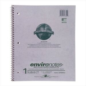Roaring Spring Environotes 1 subject Recycled Notebooks 13354