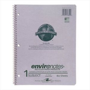 Roaring Spring Environotes 1 subject Recycled Notebooks 13340