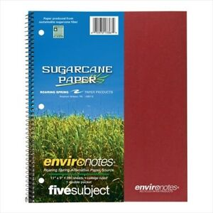 Roaring Spring Environotes 5 subject Notebooks 13367