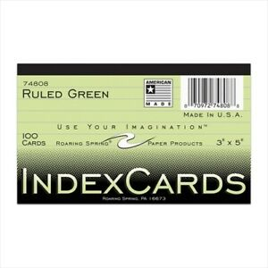 Roaring Spring Colored Index Cards 74808