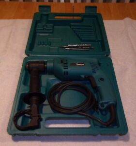 Makita 5a Electric Corded Hammer Drill With Case Handle Hp1501