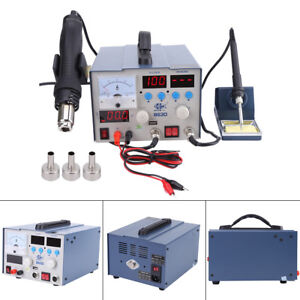 3in1 Digital Soldering Rework Station Smd Solder Iron Hot Air Gun