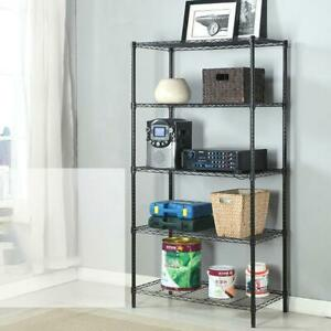 3 4 5 Tier Layer Storage Rack Organizer Kitchen Shelving Steel Wire Shelves Unit