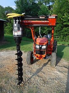 Kubota Tractor Attachment Danuser Ep 6 Hex Auger With 9 Bit Ship 199