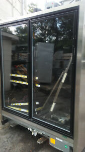 Used 11 Zero Zone Self contained Cooler Glass Doors Display With Shelves