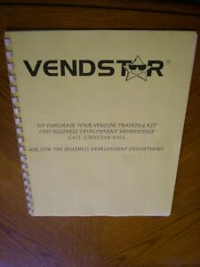 Vendstar 3000 4000 Candy Machine Owners Manual New Copy
