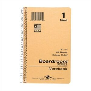 Roaring Spring Small Size Notebooks 12015