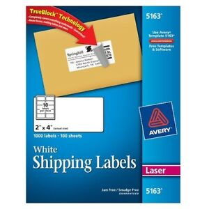 Avery Shipping Labels For Laser Printers 5163