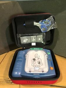 Philips Heartstart Onsite With Red Case Pads And Battery