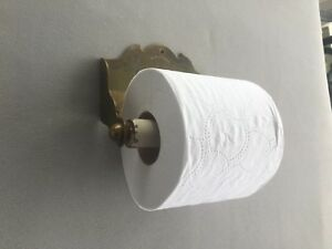 Antique Brass Toilet Paper Tissue Holder Old Vtg Brasscrafters Fixture 37 18j