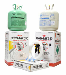 Spray Foam Insulation Kit Dow Froth pak 650 Class A Fire Rated 30 Ft Hose