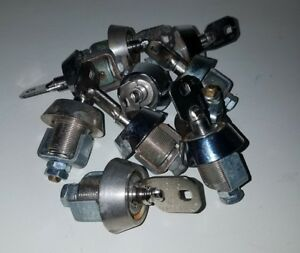 Lot Of 10 Vintage Chicago Lock Co Candy Bulk Vending Machine Lock