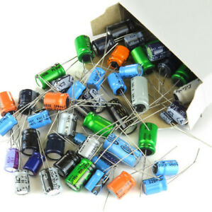 350 Pieces Capacitor Assortment Grab Bag Of Various Brands Values And Sizes