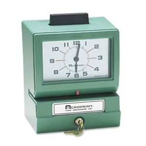 Acroprint Model 125nr4 Manual Time Recorder 011070411
