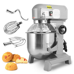 2 4hp 30qt 3 Speed Commercial Dough Food Mixer Gear Driven Bakery Blender Top