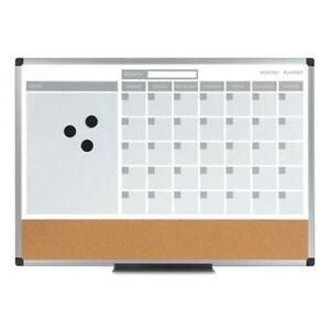Mastervision 3 in 1 Calendar Planner Dry Erase Board Mb0707186p