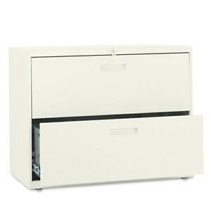 Hon 2 Drawer Lateral Filing Cabinet With Lock 582ll