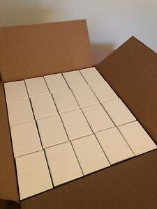 Lot 80 3 1 16x2 1 8x1 White Swirl Cotton Filled Paper Jewelry Gift Box Case