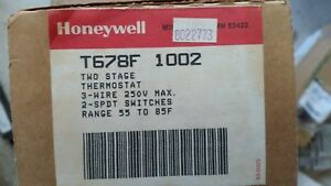 Nos Honeywell 2 stage Thermostat T678f 1002 55 85f 250v