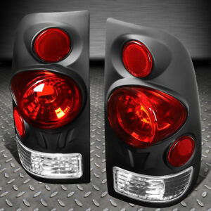 For 97 07 Ford F series Styleside Black Housing Tail Light Brake parking Lamps