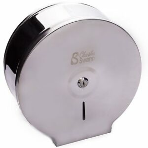 Charles Swann 9 Commercial Stainless Steel Toilet Paper Dispenser No Tax