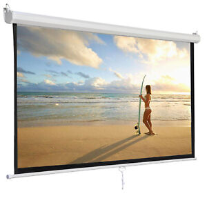 119 Manual Pull Down Projector Projection Screen Home Theater Movie 84 x84