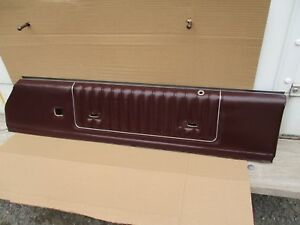 1985 1986 1987 Monte Carlo Ss Cutlass 442 Interior Door Panel Burgundy Oem Rh 1