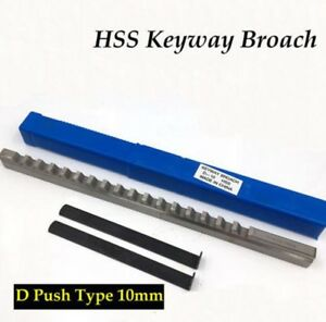 Hss Keyway Broach 10mm D Push type Metric Size Cnc Machine Tool