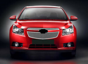 2pcs Honeycomb Front Bumper Middle Grille Grill For Chevrolet Cruze 2011 14