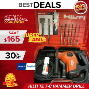 Hilti Te 7 c Rotary Hammer Drill Brand New Free Bits Fast Shipping