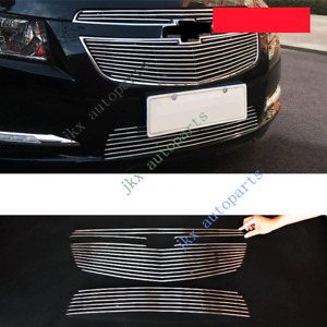 3pcs Metal Mesh Front Bumper Middle Grille Grill For Chevrolet Cruze 2011 14