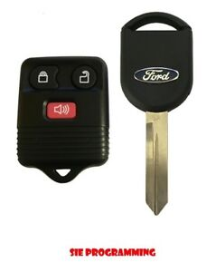 Replacement Keyless Entry Remote Fob Ignition Transponder Chip Key For Ford