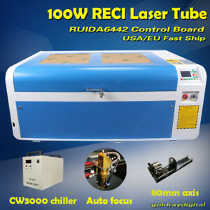 Reci 100w Laser Engraver Engraving Machine 100 60 For Wood acrylic glass leather