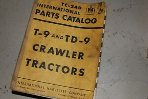 Ih International Harvester T9 Td9 Tractor Dozer Crawler Parts Manual Book List
