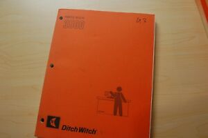 Ditch Witch 3500 Trencher Ditcher Plow Parts Manual Book Catalog List Spare List