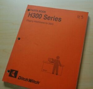 Ditch Witch H311 H312 H331 H341 H350 Trencher Attachment Parts Manual Book Plow