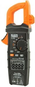 Klein Tools Clamp Meter Digital Auto Ranging Temp Ac Dc Voltage Tester Device