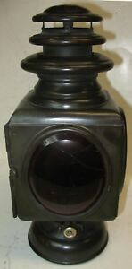 Large Gray And Davis Square Brass Oil Tail Lamp Thomas Flyer Alco Mercer White