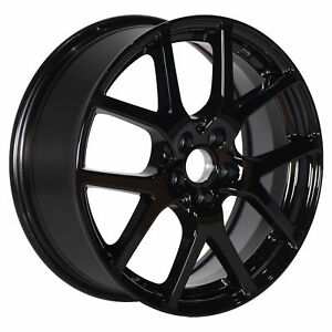 Oem 2018 Subaru Crosstrek Sti 17 Inch Alloy Wheel Black Ten Spoke New B3110fl250
