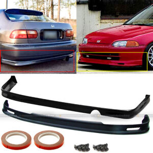 For 92 95 Honda Civic 4dr Jdm Polyurethane Mugen Front Rear Bumper Chin Lip
