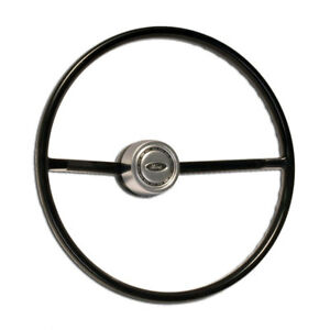 1966 1973 Ford Bronco Steering Wheel With Satin Horn Button Kit free Ship