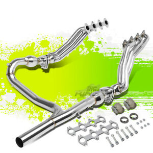 2 5 4 1 Full Length Exhaust Header Manifold resonators y pipe For 04 10 F150 4wd