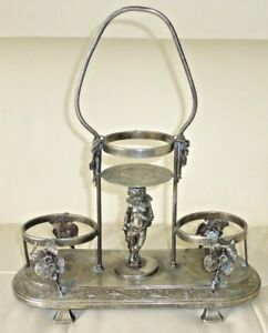 Antique Victorian Wilcox Silverplate Quadruple Plate Putti Cherub Centerpiece