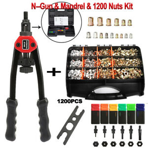 900pcs Rivet Nut Gun Kit Rivnut Setting Tools Nut Setter Tool Hand Blind Riveter
